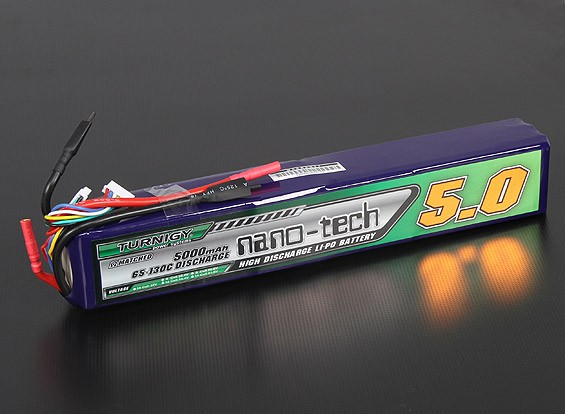 Turnigy nano-tech 5000mah 10S 65~130C Lipo Pack