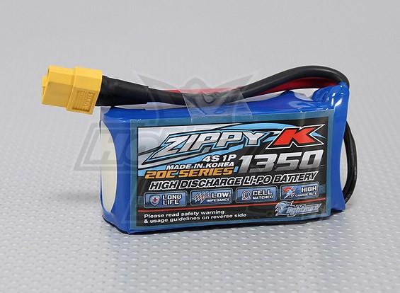 Zippy-K Flightmax 1350mah 4S1P 20C Lipoly Battery