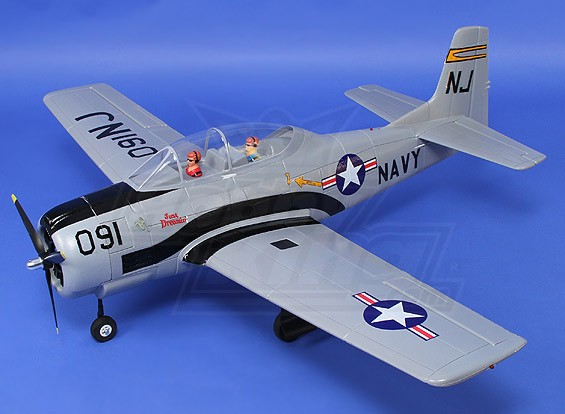 T-28 Trojan (Grey) 1270mm w/retracts & nav lights (PNF)