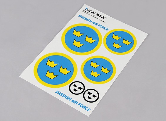 Scale National Air Force Insignia Decal Sheet - Sweden (Large)