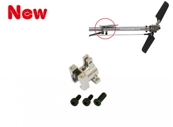 Gaui 100 & 200 CNC Tail Support Clamp for Boom 7mm(Titanium anodized)