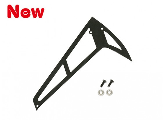 Gaui 100 & 200 Size Fiberglass Longer Fin E-Type Black (203609)