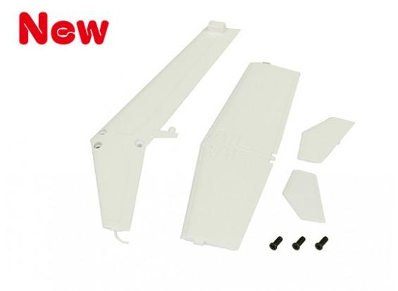 Gaui 100 & 200 MD500 Fin & Tail Set(White)