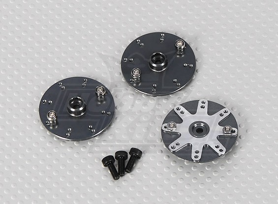600/700 Size Helicopter Alloy Servo Wheels (3pcs/bag)