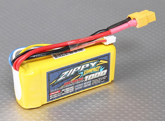 ZIPPY Compact 1000mAh 4S 25C Lipo Pack