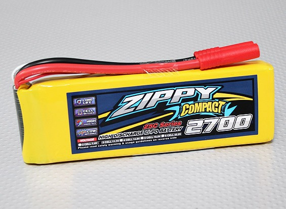 ZIPPY Compact 2700mAh 3S 25C Lipo Pack