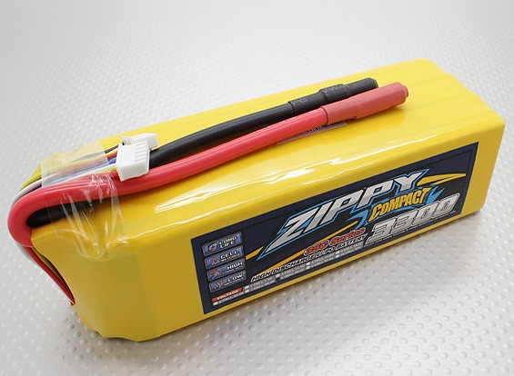 ZIPPY Compact 3300mAh 8S 35C Lipo Pack