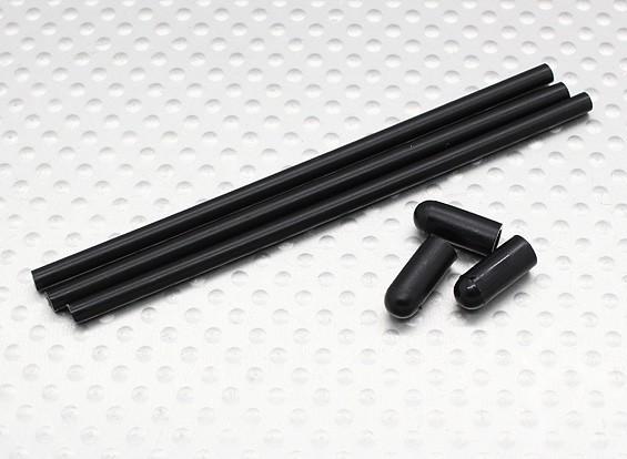 Antenna Pipe w/cap (3pcs/bag) - Turnigy Trailblazer 1/8, XB and XT 1/5