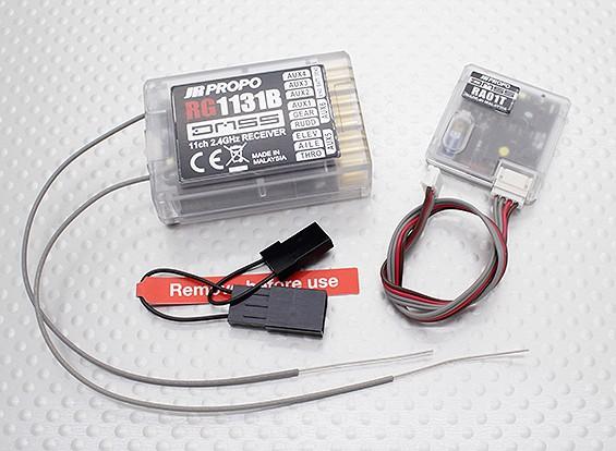 JR RG1131B 11-Channel Full Range 2.4GHz DMSS Receiver w/Telemetry