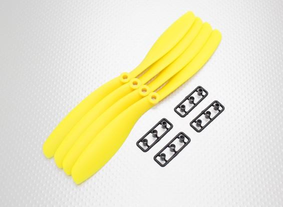 Hobbyking™ Propeller 8x4.5 Yellow (CW) (4pcs)