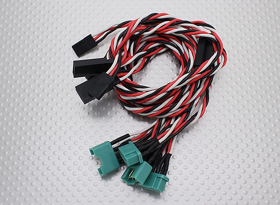 MPX Style Plug-In Wing Wiring harness for E-Typhoon (Aileron & Flap)