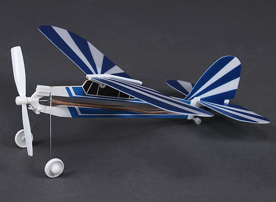 Rubber Band Powered Freeflight Piper Super Cub 292mm Span