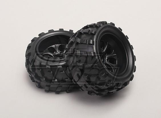 Wheels/Tires (2pcs/bag) - 1/18 4WD RTR Short Course Truck