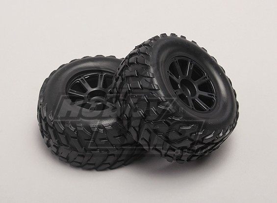 Wheels/Tires (2pcs/bag) - 1/18 4WD RTR Short Course Truck