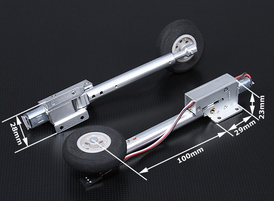 Turnigy Full metal electric retract 80 degree - Warbird