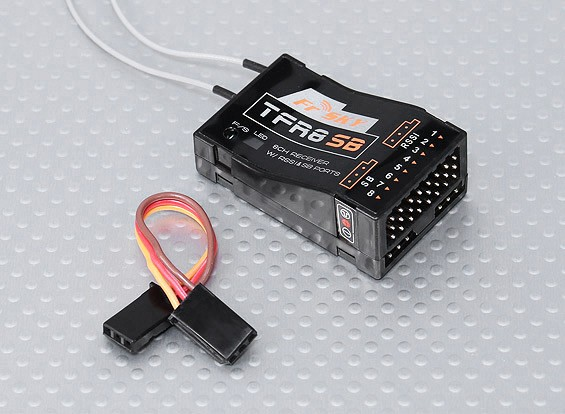 FrSky TFR8 SB 8ch 2.4Ghz S.BUS Receiver FASST Compatible