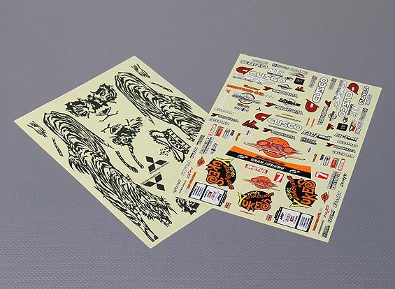 Self Adhesive Decal Sheet - YUKE'S TIGER EVOLUTION X 1/10 Scale