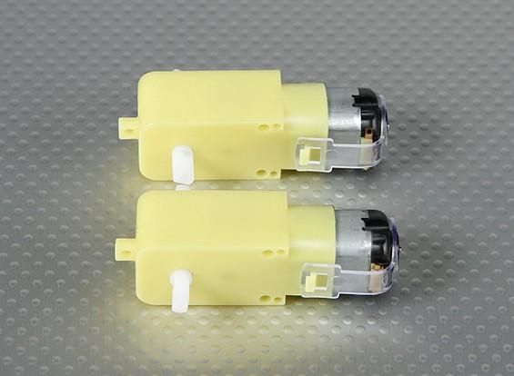 Geared Motor w/ 90 Deg Shaft (2Pcs/Bag)
