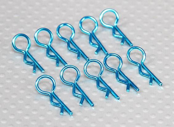 Small-ring 45 Deg Body Clips (Blue) (10Pcs)