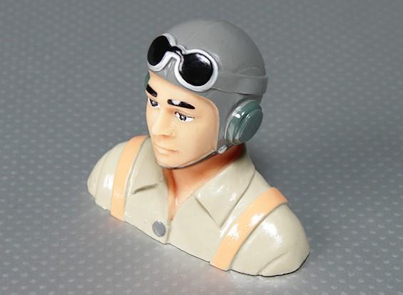 WWII Model Pilot (H70 x W83 x D35mm)