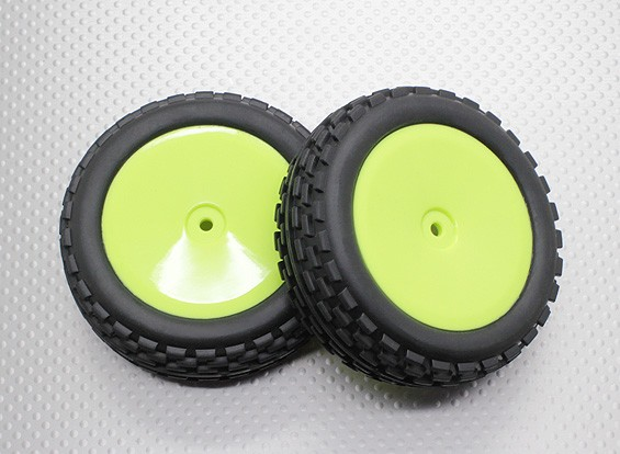 Front Buggy Tyre Set 2sets(Dish rim)  - 1/10 Quanum Vandal 4WD Racing Buggy (2pcs)
