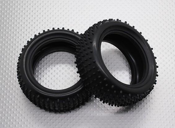 Front Tires w/Round Tread (2pcs/bag) - 1/10 Quanum Vandal 4WD Racing Buggy