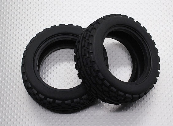 Front Tires w/Square Tread (2pcs/bag) - 1/10 Quanum Vandal 4WD Racing Buggy