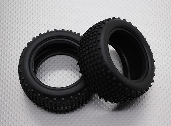 Rear Tires w/Square Tread (2pcs/bag) - 1/10 Quanum Vandal 4WD Racing Buggy