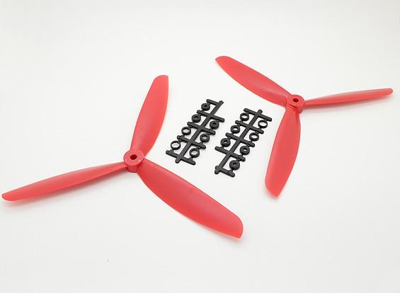 Hobbyking™ 3-Blade Propeller 9x4.5 Red (CW/CCW) (2pcs)