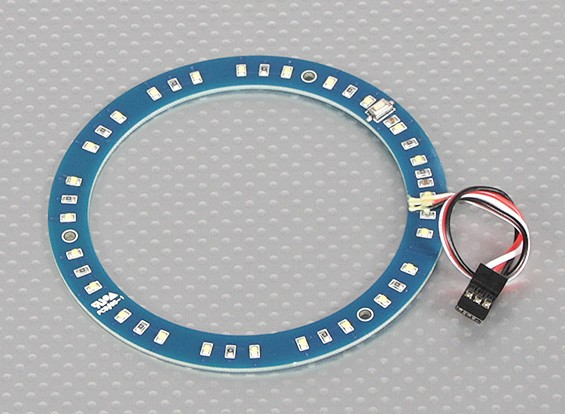 LED Ring 100mm White w/10 Selectable Modes