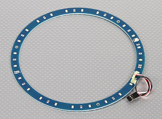 LED Ring 165mm White w/10 Selectable Modes