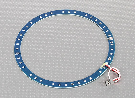 LED Ring 165mm Red w/10 Selectable Modes