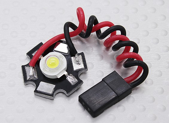Super Bright 3Watt White LED Lamp with Aluminium Heatsink