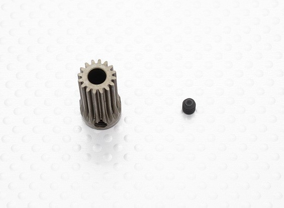 """""""Hard One"""" 0.6M Hardened Helicopter Pinion Gear 5mm Shaft - 16T"""