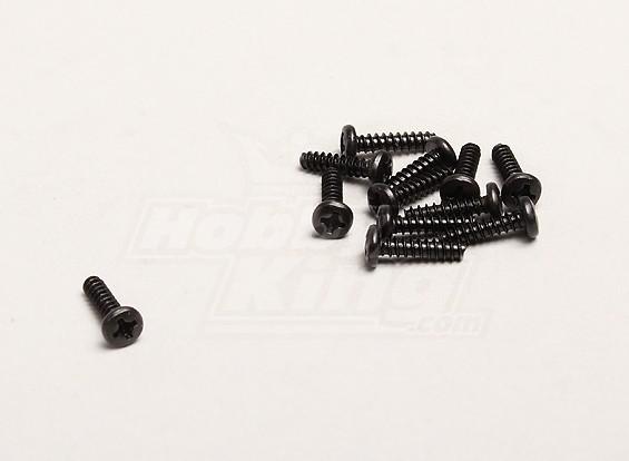 Self Tapping 3x12mm Cross Screw (12pcs/bag) - Turnigy Trailblazer 1/8