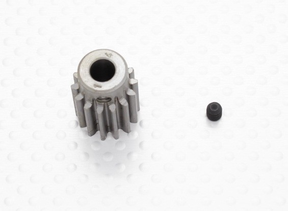 """""""Hard One"""" 1.0M Hardened Helicopter Pinion Gear 6mm Shaft - 14T"""