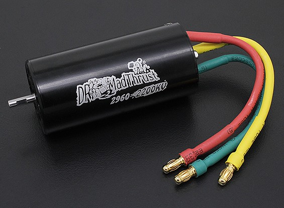 Dr Mad Thrust 2200kv 1600w 70mm EDF Inrunner 6S version (29mm)