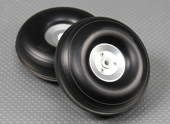 Lightweight Alloy Scale Wheel Assembly 90mm (3.5 inch) (2pc)