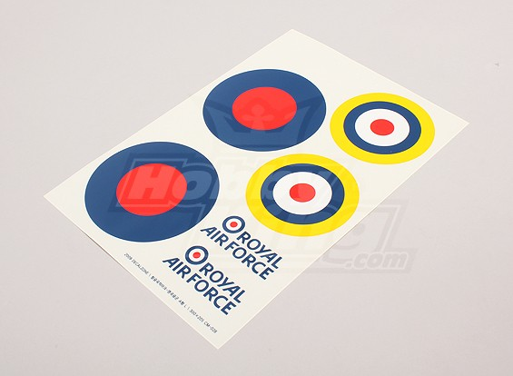 Scale National Air Force Insignia Decal Sheet - UK (large Type B)