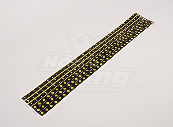 Decal Strips F-14/F-18 Style Diamond/Arrow Pattern