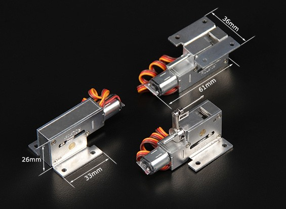 Turnigy Full Metal Servoless Retracts w/Steerable Nose Assembly (3mm pin)