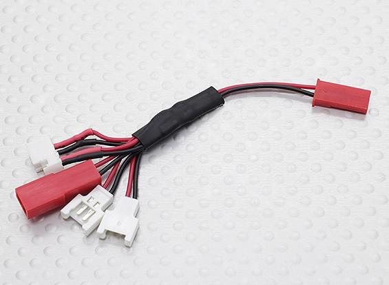Multi-Plug Charge Lead for Micro Model Batteries (Walkera/NE/Pico/E-flite/JST)