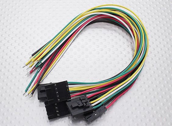 5 Pin Molex Connection Lead (Suits Fatshark) 5pc