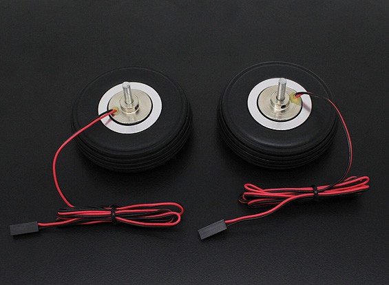 """Turnigy Electric Magnetic Brake Wheels (No Controller) 63.5mm (2.5"""") Wheel (2pc)"""