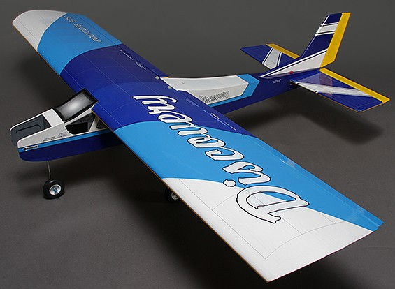 Discovery (Blue) Balsa Hi-Wing Trainer Glow/EP 1620mm (ARF)