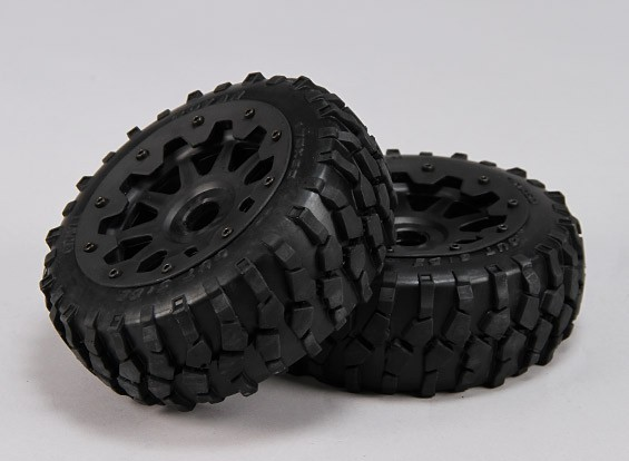 Front Macaam Tires/Wheels Complete Set - 1/5 Baja 260 and 260S