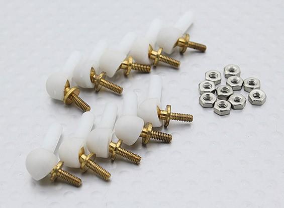 2mm Brass Ball Link (10pcs/bag)