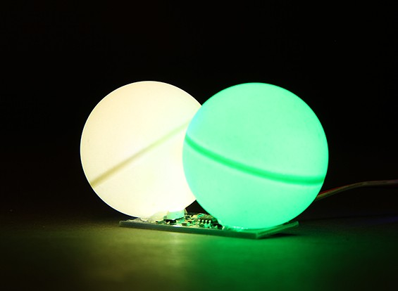 LED PCB Green Strobe and Continuous White LED 3.3~6.0V with Twin Ball Diffuser