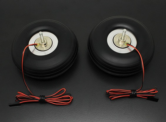"""Turnigy Electric Magnetic Brake Wheels (No Controller) 90mm (3.5"""") Wheel (2pc)"""