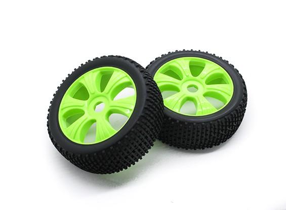 HobbyKing 1/8 Scale K Spec Y Spoke Wheel/Tire 17mm Hex (Yellow)